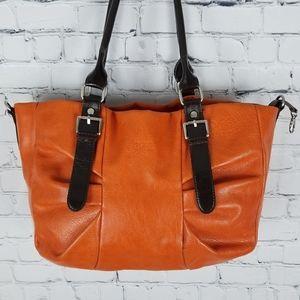 ESPE   buckle pleated slouchy hobo shoulder bag